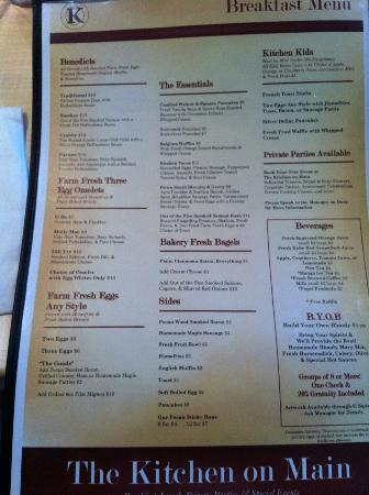 The Kitchen on Main : Great variety for breakfast