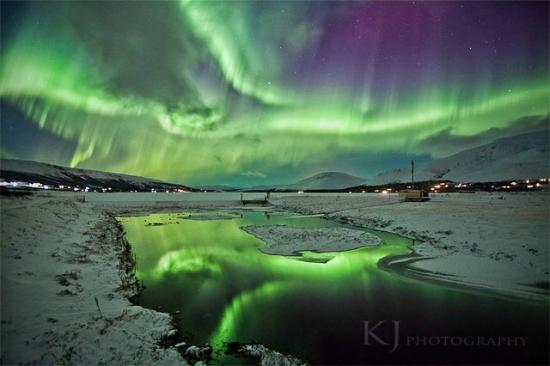 Egils Guesthouse Cottage: Aurora borealis or the northen lights in Skorradalur near Borgarnes