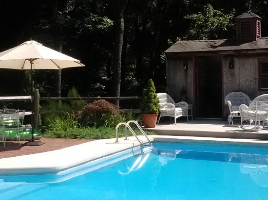 Green Acres Bed and Breakfast: The lovely pool in the side yard.