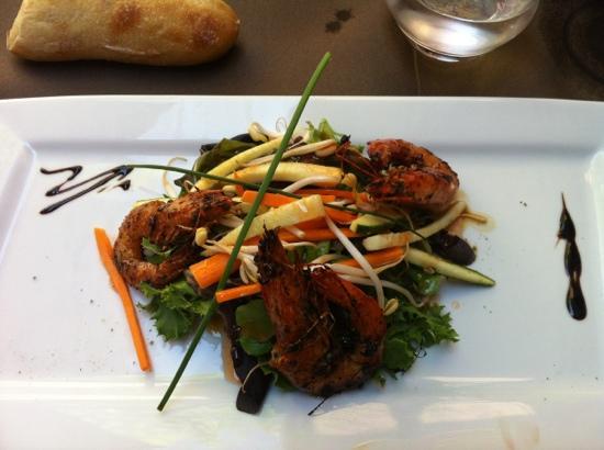 salade thaï de gambas