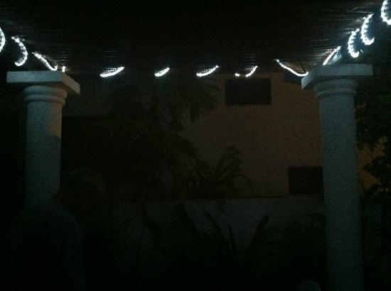 Luna Azul Condominiums: Bodega Sur has a lovely patio with rope lights