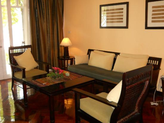 The Grand Luang Prabang Hotel & Resort: living room