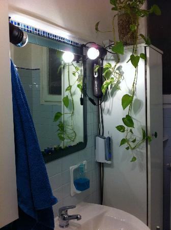 Family Life : Dettaglio del bagno: specchio e punti luce