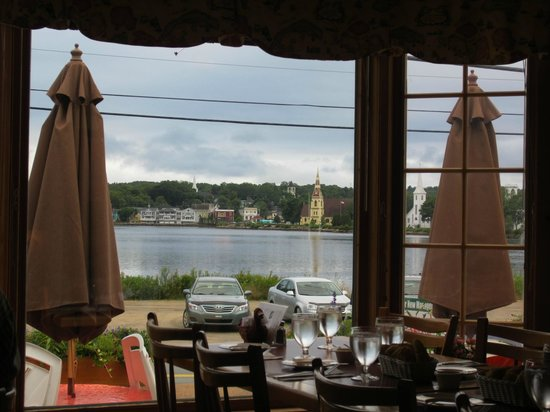 Kedy's Inlet: View from restaurant overlooking Mahone Bay harbour