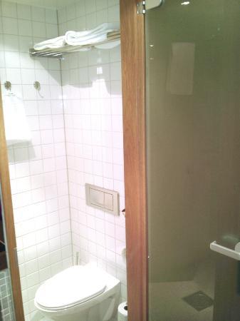 Hotel Aveny: Toilet & shower