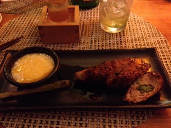 Aburiya Kinnosuke: Chicken meatball robata ( amazing)