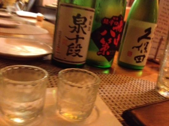 Aburiya Kinnosuke: Saki tasting on he house!