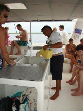 FatCat Ocean Adventures: pouring the rum punch