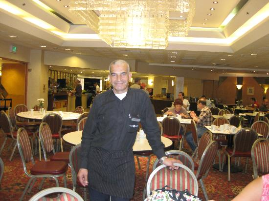 Hotel Prima Kings: Rahabi, our friendly waiter, Prima Kings, Jerusalem, Israel