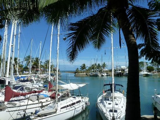 Vuda Point Marina Fiji: The marina showing the passage out to sea