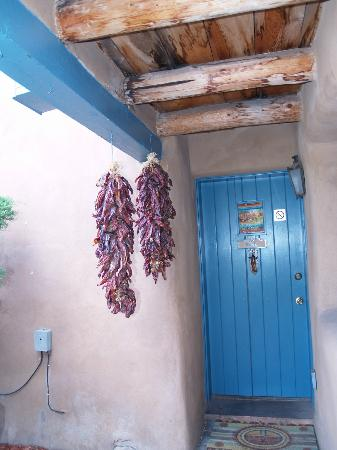 Inn at Pueblo Bonito Santa Fe: Loved the hanging peppers outside the door
