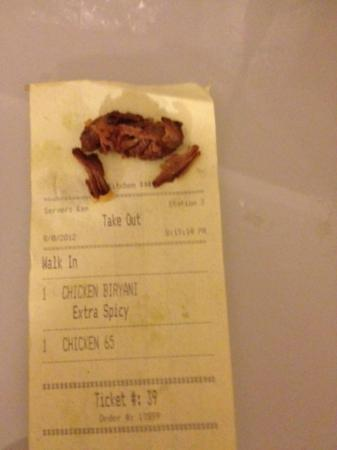 Maharaja : RED MEAT in Chicken Biryani.... CAREFUL