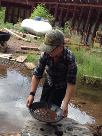 Bachelor Syracuse Mine Tour: panning for gold