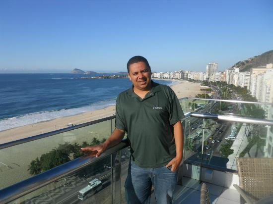 Arena Copacabana Hotel: Olha que vista!