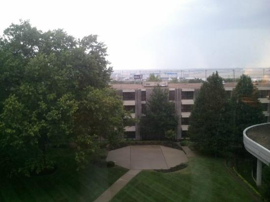 "Hilton St. Louis Airport: View from our room - the ""newer"" side"