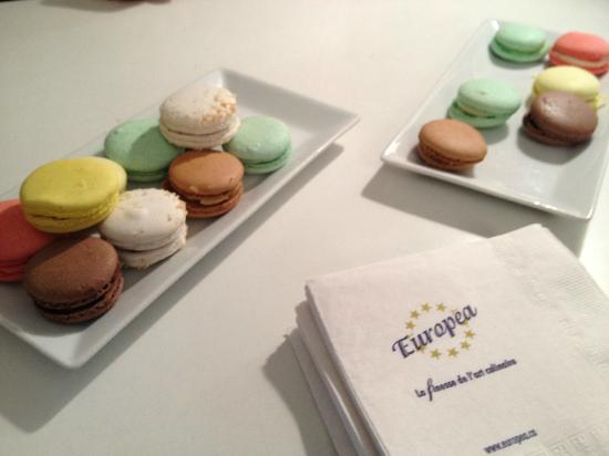 Montreal Food Tours: Macarons at Europa Cafe