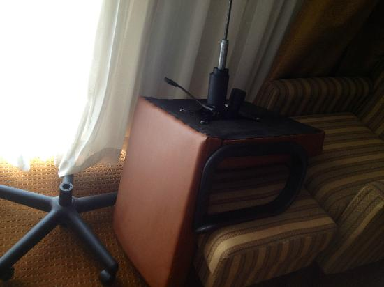 Charleston Grand Hotel: The Broken Chair that welcomed us to the room