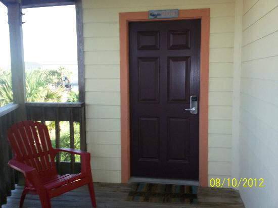 The Saint Augustine Beach House: The door of our room...