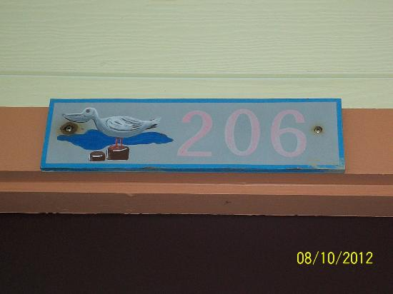 The Saint Augustine Beach House: The cute soom number sign, a nice touch.