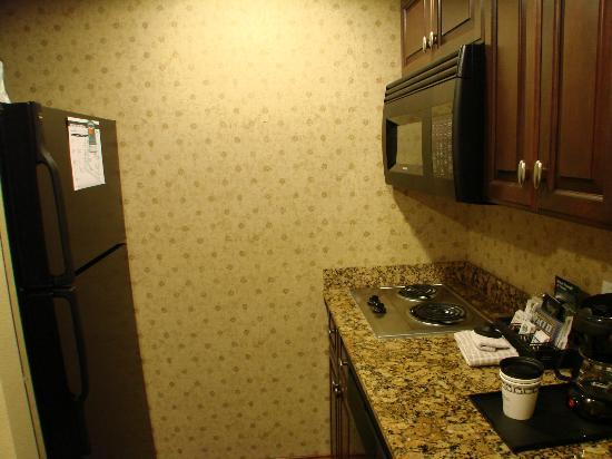 Homewood Suites by Hilton Albuquerque Airport: full size refrigerator, microwave, 2 burner stove