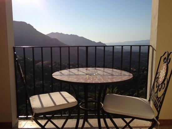 Hotel des Roches - Restaurant: vista dal terrazzino