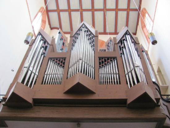 St. Marien-Kirche (Mariä Himmelfahrt): detail organ