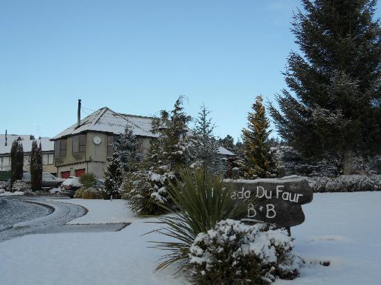 Freda du Faur House B&B: Freda du Faur in the snow