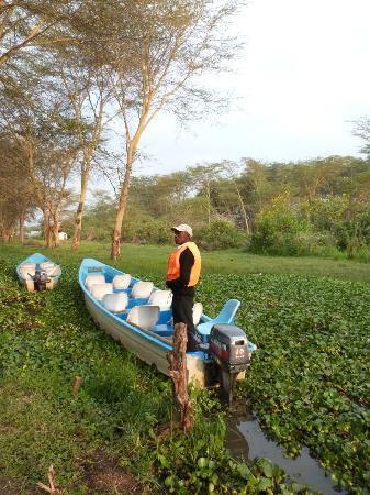 Lake Naivasha Resort: Boat jetty at the lake