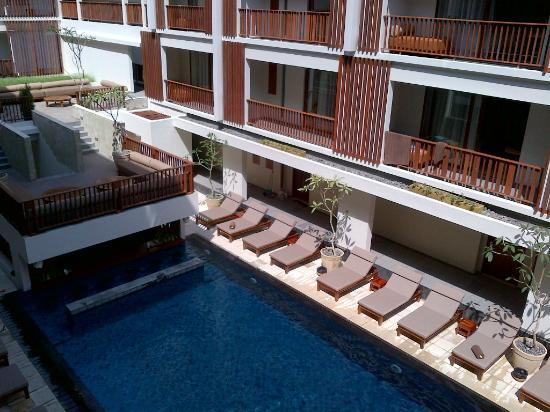 The Magani Hotel and Spa: View of room + pool from the balcony of my room