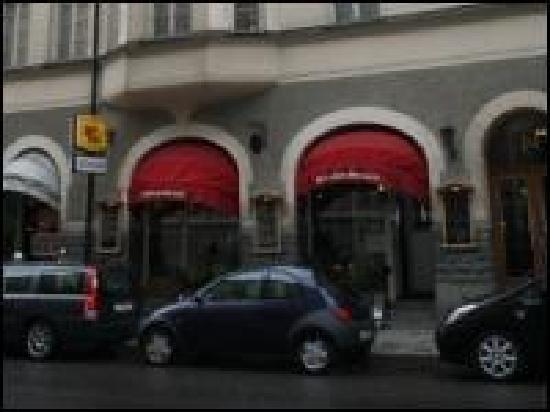Restaurang Rosmarin : Restaurangens fasad.