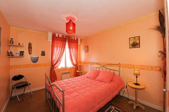 Bed and Breakfast Joliot Curie: chambre safari rdc grand lit télévision