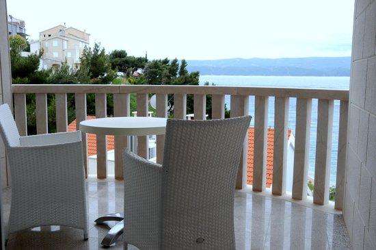 Villa MiraMar: Balkon auf der 2. Etage mit Blick aufs Meer