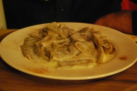 Le Bourg Chez Dedè di Bertola Vittoria : Lasagnette con fonduta