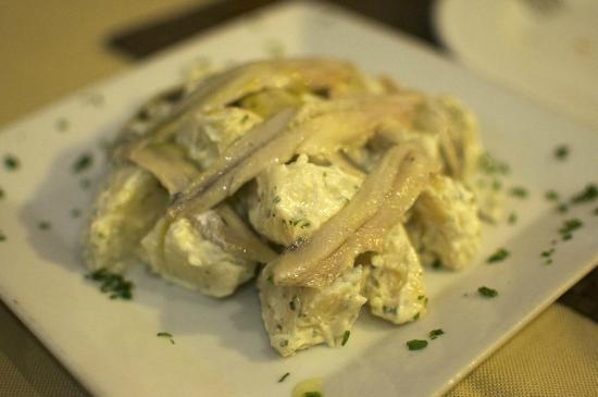 Restaurante La Cocina: Boquerones con patatas alioli
