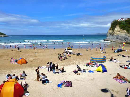 Hendra Holiday Park: A beach in Newquay