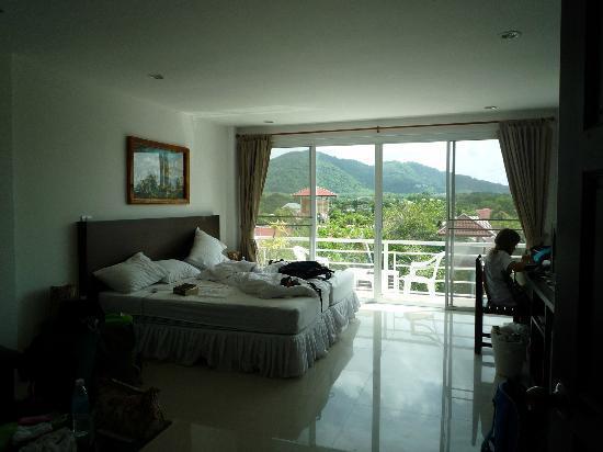 Baan Oui: kamer top floor met terrasje