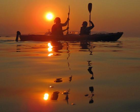 Glossa, Greece: kayaking at sunset