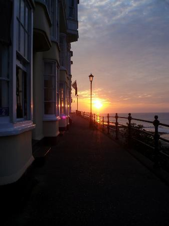 Albury House: Sunset from above the pier at Cromer