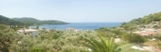 Hotel Panormos Beach Skopelos: Panormos panorama