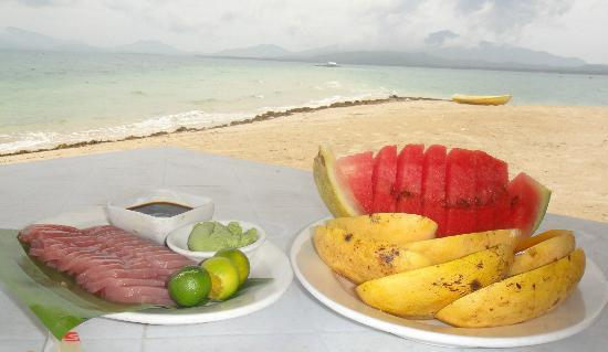 Dos Palmas Island Resort & Spa: sashimi lunch