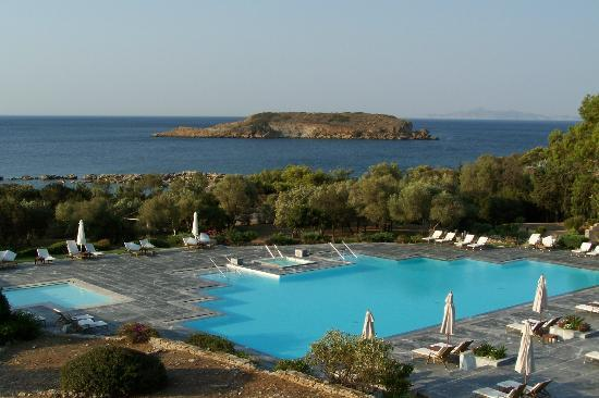 Pool View From Breakfast Terrace Picture Of Cape Sounio Grecotel