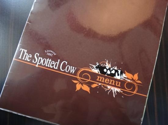 The Spotted Cow: A Spotted Cow Menu