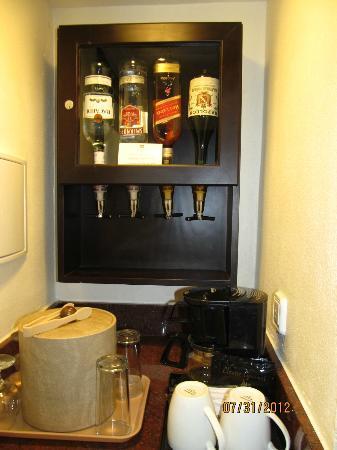 Hotel Riu Palace Aruba Liquor Dispenser In The Room