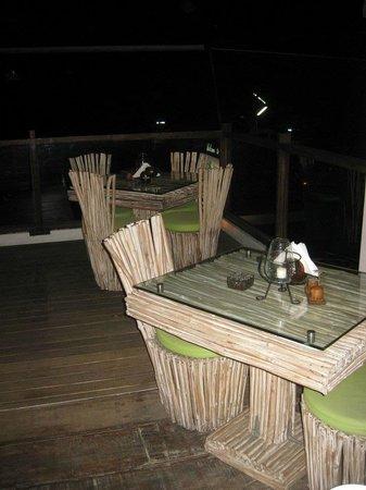 La Plage: funky tables
