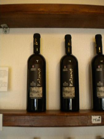 Gavalas Winery: A few of the wines on display