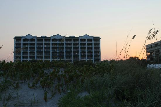Resort on Cocoa Beach: The hotel from the beach