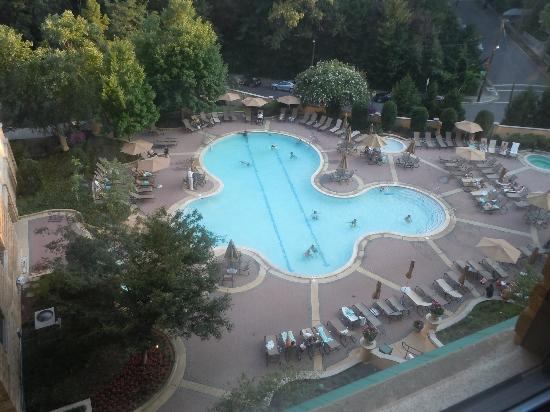 View Of The Pool From Our Room 475 Picture Of Omni Shoreham Hotel Washington Dc Tripadvisor