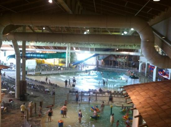 Great Wolf Lodge Concord: view of waterpark from hotel