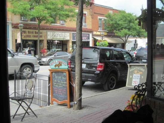 Apple Annie's Cafe - Street View from our window seat