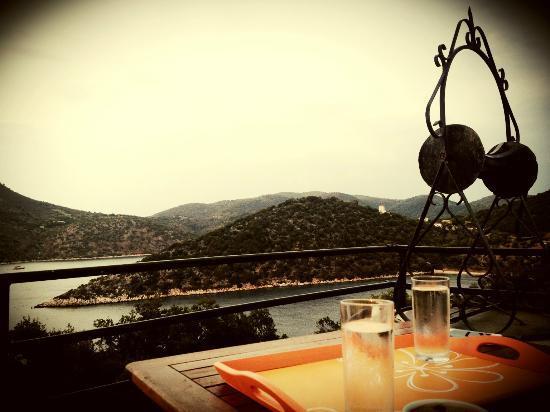 Razos Windmill: Balcony view